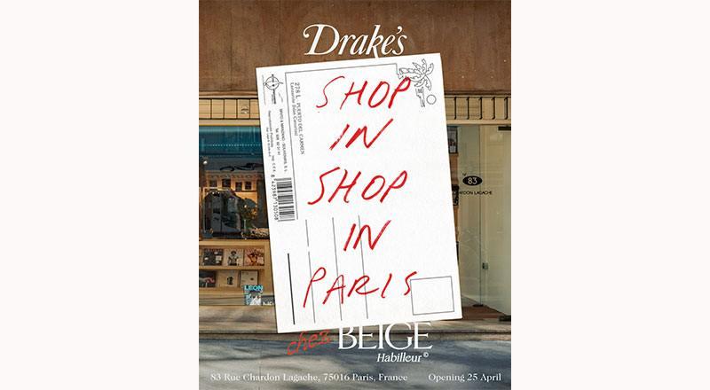 Drake's Chez Beige Habilleur: Announcing a Permanent Shop-in-Shop in Paris