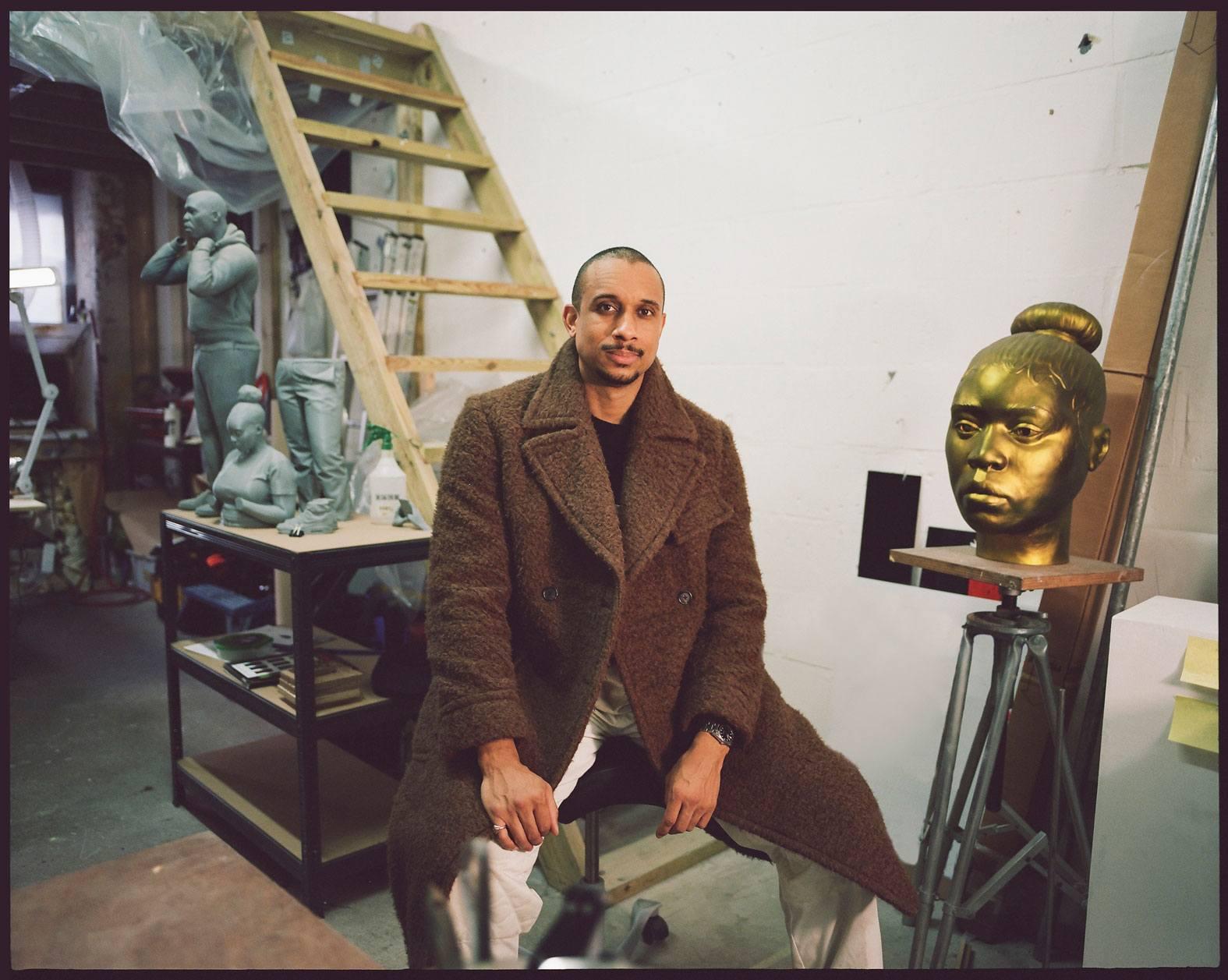 Sculptor Thomas J Price Wears the 'Teddy-Polo' Coat
