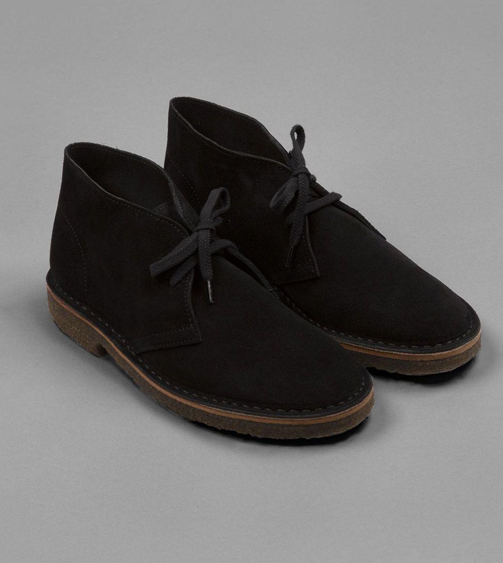 Clifford Desert Boot Black Suede | Drake's