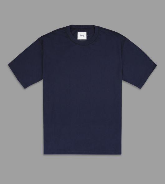 Navy Cotton Crew Neck Hiking T-Shirt