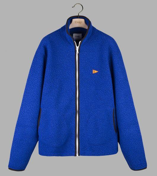 Royal Blue Single Zip-Front Fleece Jacket