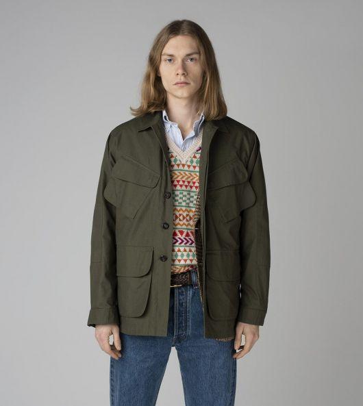 Khaki Cotton Ripstop Jungle Jacket