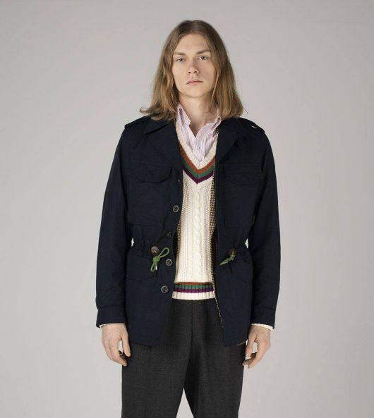 Navy Cotton-Nylon D-43 'Sport' Jacket