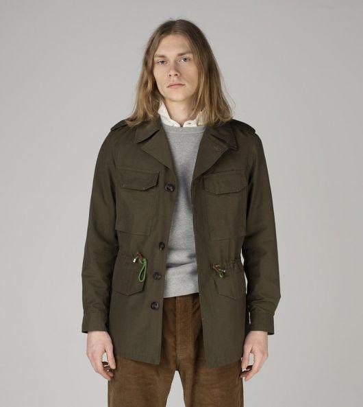 Olive Cotton-Nylon D-43 'Sport' Jacket