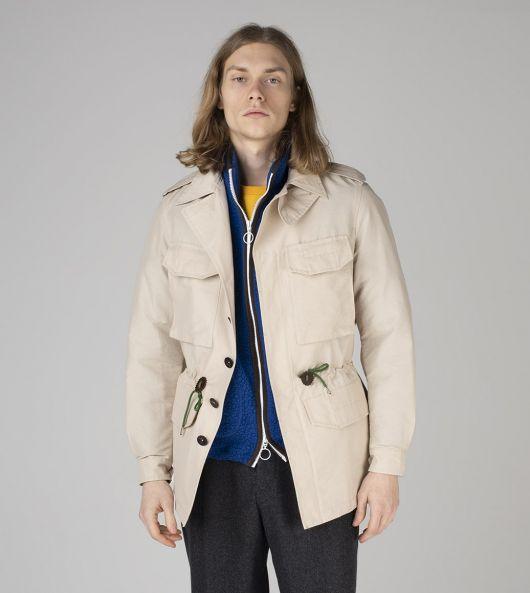 Ecru Cotton-Nylon D-43 'Sport' Jacket