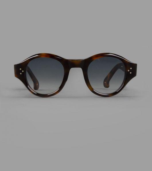 Dark Tortoise Rounded Sunglasses