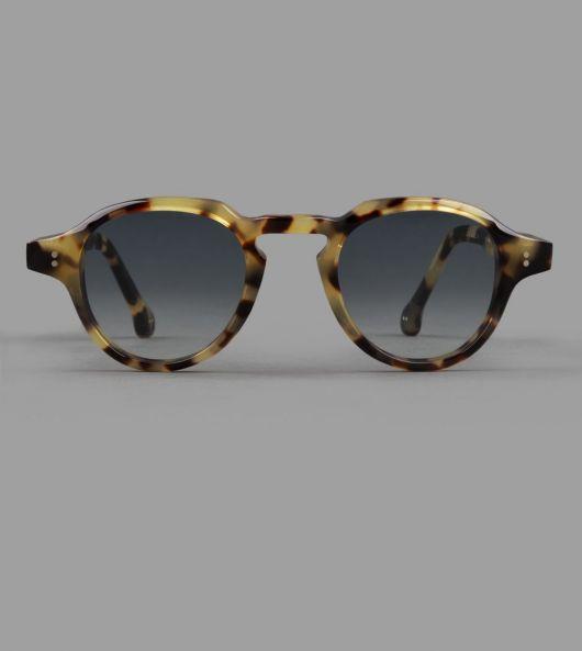 Japanese Tortoise Keyhole Bridge Panto Sunglasses