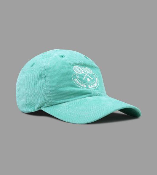 "Mint Green ""Chard Racquets"" Needlecord Six-Panel Ball Cap"
