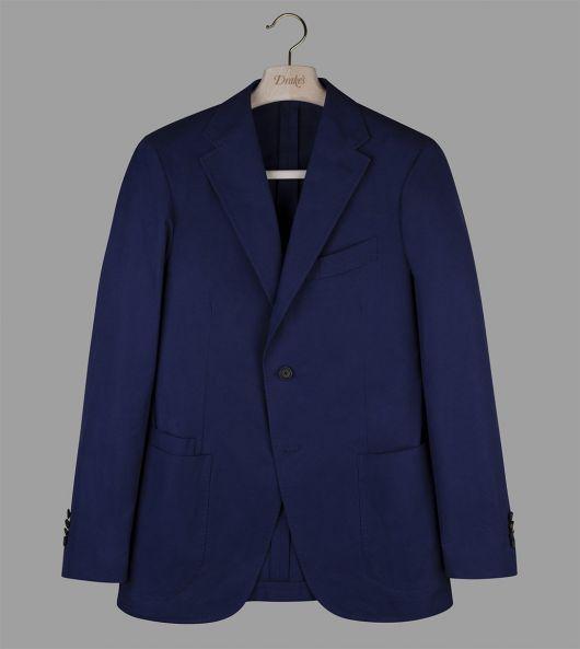 Ink Blue Cotton Twill Jacket