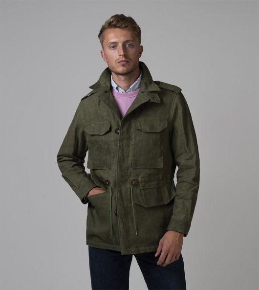Olive Waxed Linen D-43 Field Jacket