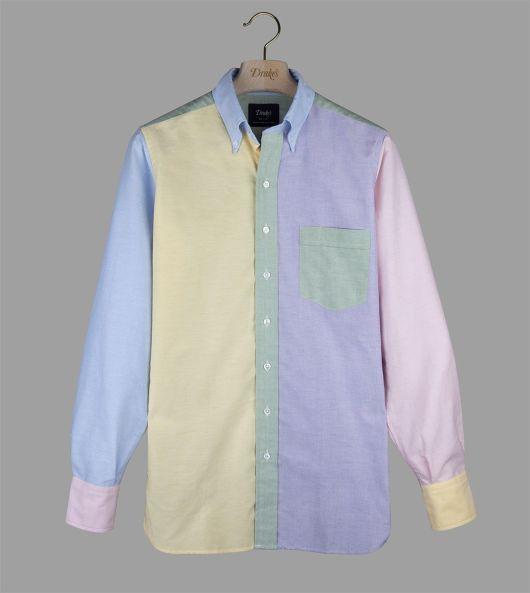 Multi-Colour Oxford Cloth 'Fun' Button-Down Shirt