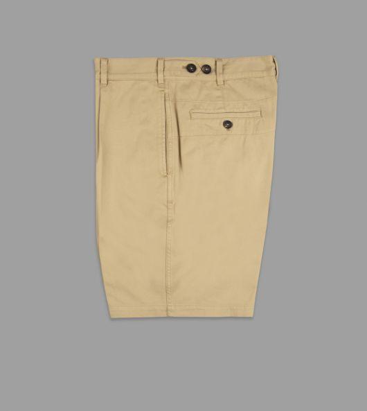 Sand Cotton Single-Pleat Games Shorts
