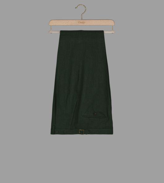 Dark Green Linen Trousers