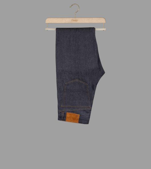 12.5oz Indigo Selvedge Denim Seamless Five-Pocket Jeans