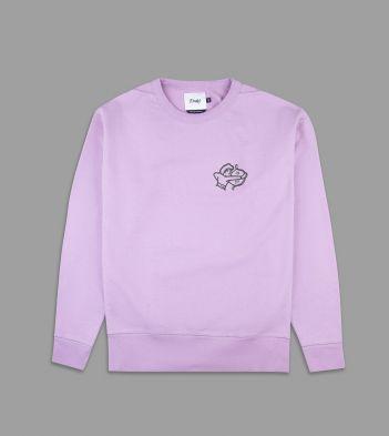 Pink Archer Motif Cotton Sweatshirt