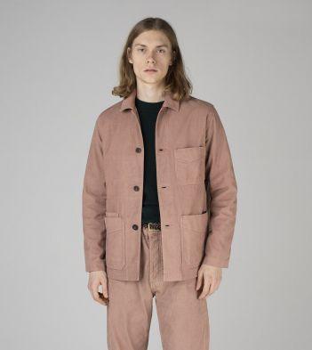 Rose Pink Japanese Selvedge Corduroy Five-Pocket Chore Jacket