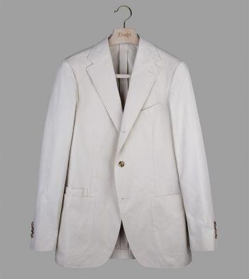 Stone Cotton Twill Jacket