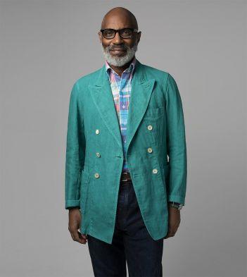 Emerald Green Irish Linen Blazer