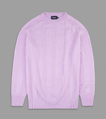 Pastel Pink Cashmere Seed Stitch Jumper
