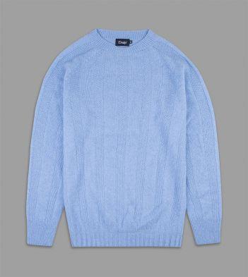 Sky Blue Cashmere Seed Stitch Jumper