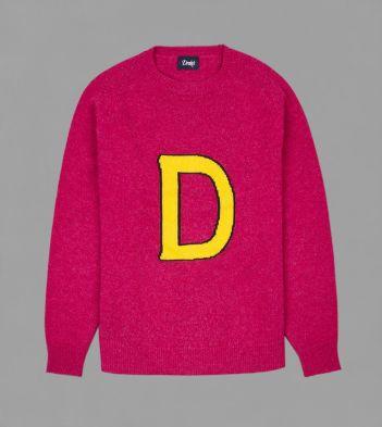 Pink Pure Cashmere Collegiate Letterman Jumper