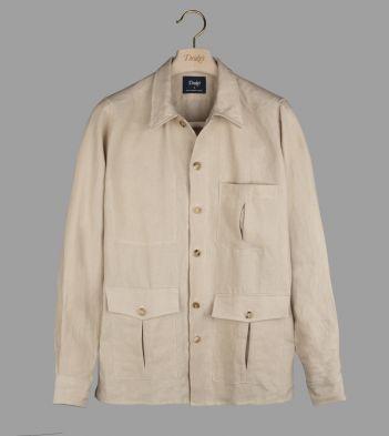 Beige Linen Overshirt