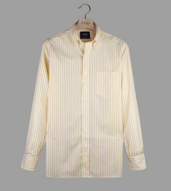 Yellow Bengal Stripe Cotton Poplin Button-Down Shirt