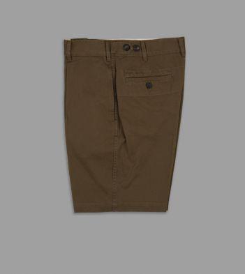 Khaki Cotton Single-Pleat Games Shorts