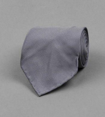 Navy Micro Square Motif Silk Tie