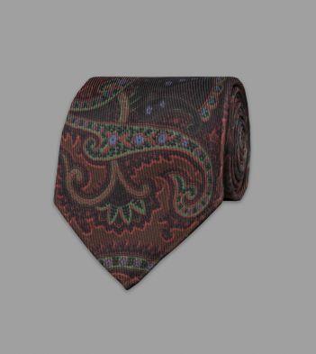 Purple Ornate Paisley 40oz Ancient Madder Silk Tie