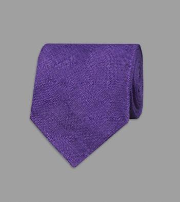 Purple Linen Tie