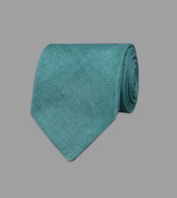 Teal Linen Tie