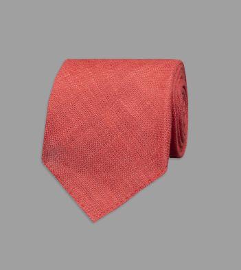 Red Linen Tie