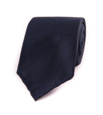 Woven Fine Rib Repp Solid Silk Tie