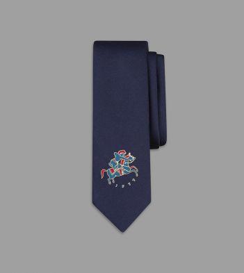 Aimé Leon Dore for Drake's Navy Mughal Emblem Silk Tie