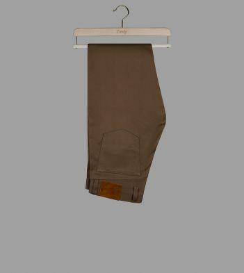 Khaki Japanese Bedford Corduroy Five-Pocket Trousers